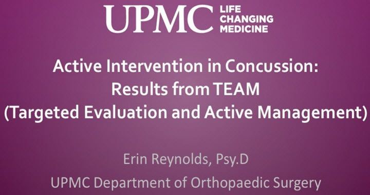 CME about Concussion Management from UPMC
