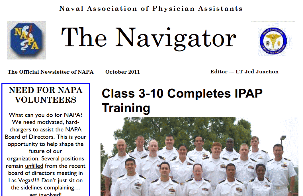 OCT 11 Navigator Posted to Site