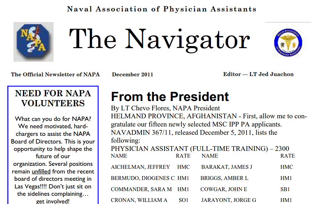 December 11 Edition of The Navigator Posted to Site!